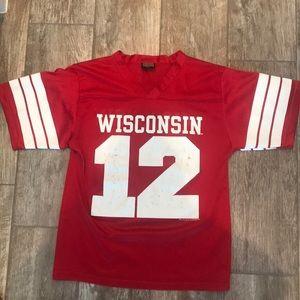 Vintage Wisconsin university football jersey